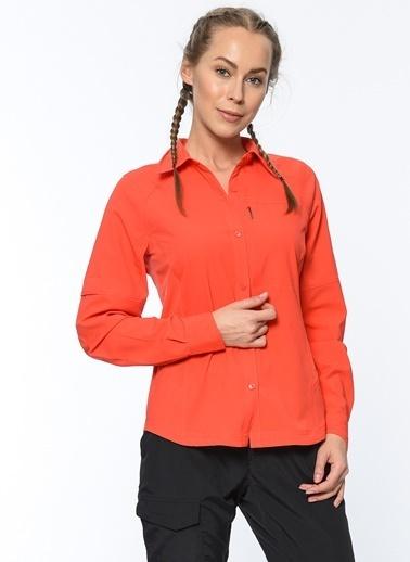 Columbia Uzun Kollu Gömlek Kırmızı